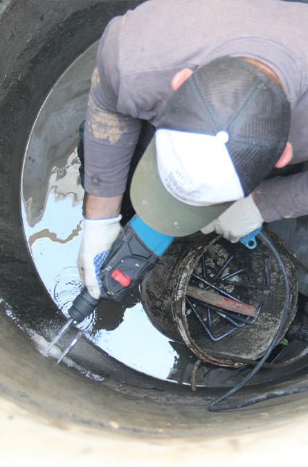 Как мы выполняем ремонт колодцев в Михнево